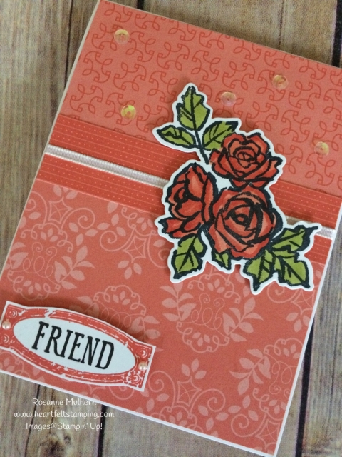 Stampin Up Petal Palette Friendship Card - Rosanne Mulhern