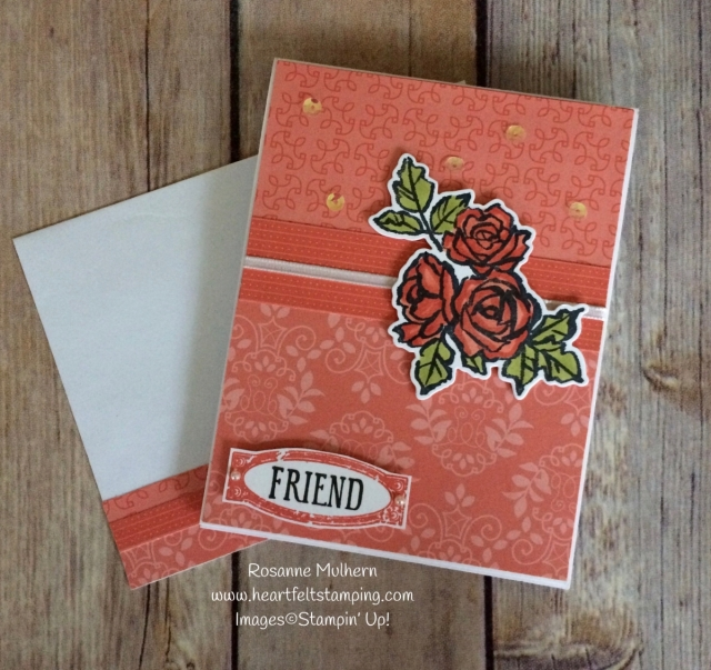 Stampin Up Petal Palette Friendship Cards - Rosanne Mulhern