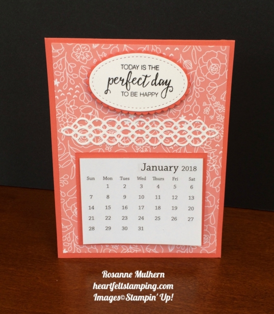Stampin Up Sweet Soiree Calendar - Rosanne Mulhern