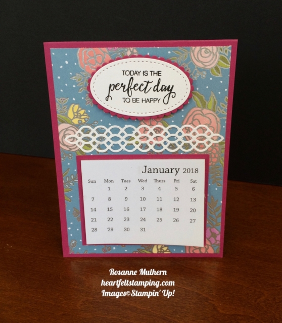 Stampin Up Sweet Soiree DSP Calendars - Rosanne Mulhern
