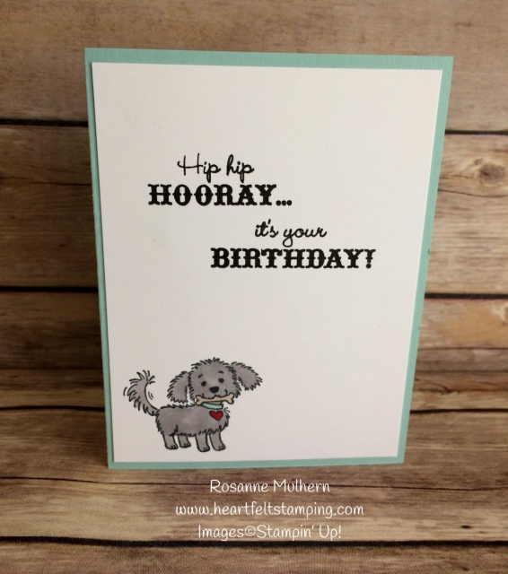 Stampin Up Bella and Friends Birthday Card Inside- Rosanne Mulhern