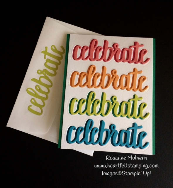 Stampin Up Celebrate You Birthday Card Ideas - Rosanne Mulhern