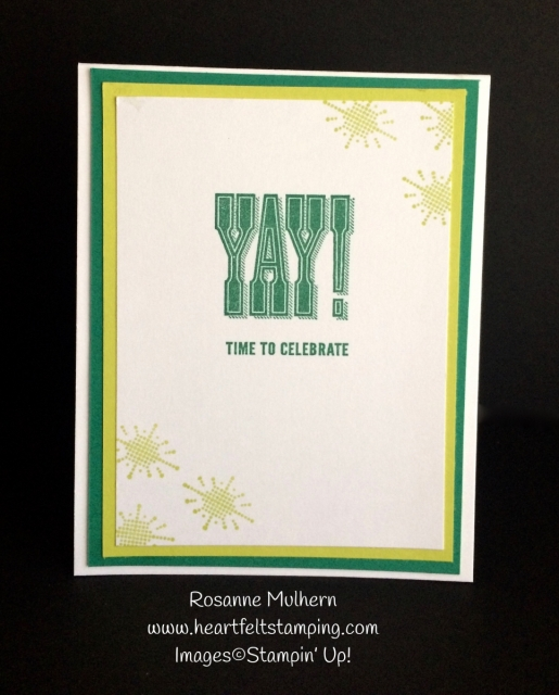 Stampin Up Celebrate You Birthday Card Inside- Rosanne Mulhern
