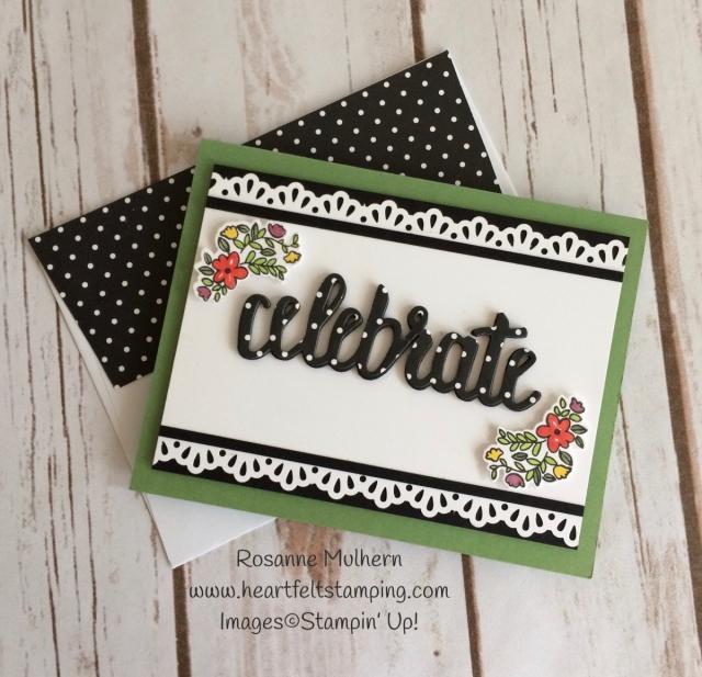Stampin Up Celebrate You Birthday Card - Rosanne Mulhern