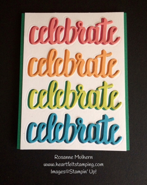 Stampin Up Celebrate You Birthday Cards - Rosanne Mulhern