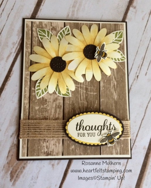 Stampin Up Daisy Delight Thinking of You Card Idea - Rosanne Mulhern