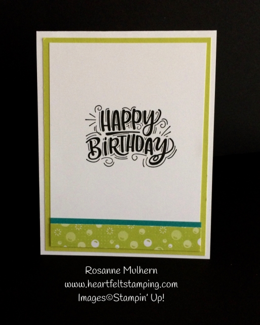Stampin Up Party Pandas Birthday Card- Tic Tac Toe Challenge - Rosanne Mulhern