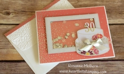 Stampin Up Sweet Soiree Shaker Birthday Card - Rosanne Mulhern
