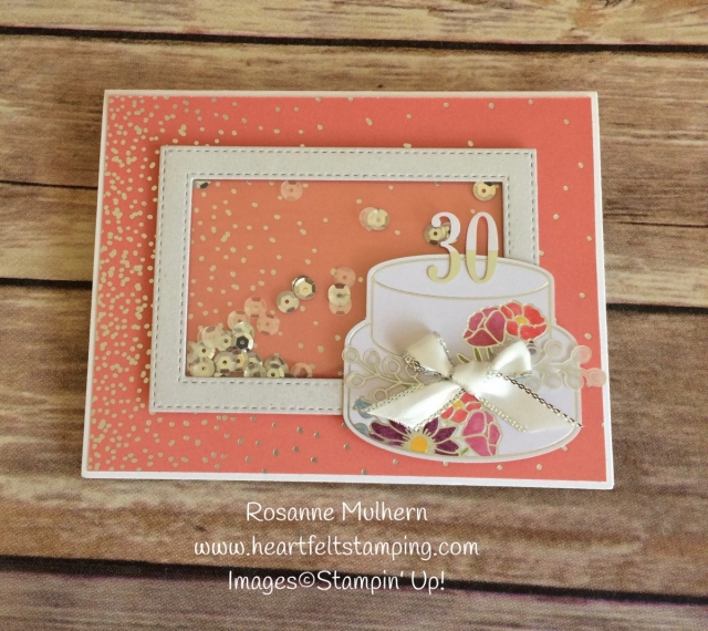 Stampin Up Sweet Soiree Shaker Birthday Cards Idea - Rosanne Mulhern