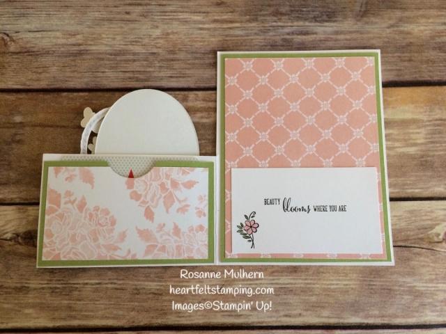 Blossoming Basket Mother's Day Gift Cards Holder - Rosanne Mulhern Heartfelt Stamping