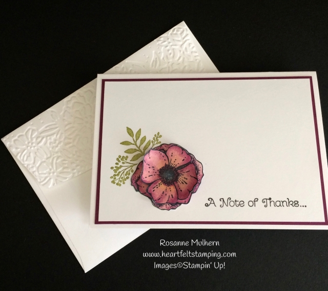 Stampin Up Amazing You Thank You Note Card Set - Rosanne Mulhern Heartfelt Stamping