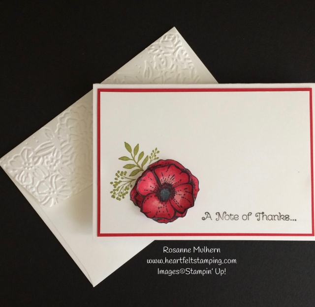 Stampin Up Amazing You Thank You Note Cards Set - Rosanne Mulhern Heartfelt Stamping
