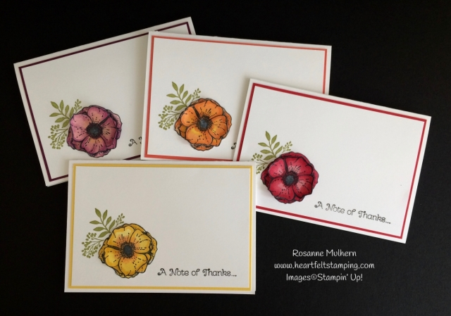 Stampin Up Amazing You Thank You Note Sets - Rosanne Mulhern Heartfelt Stamping