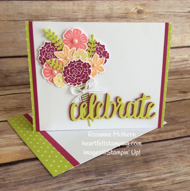 Stampin Up Beautiful Bouquet Birthday Cards Idea - Rosanne Mulhern Heartfelt Stamping