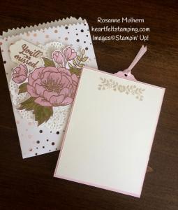 Stampin Up Birthday Blooms Mini Treat Bag Gift Card Holder-Rosanne Mulhern Heartfelt Stamping