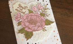 Stampin Up Birthday Blooms Mini Treat Bag Gift Card Holder - Rosanne Mulhern Heartfelt Stamping