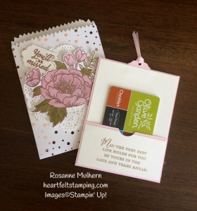 Stampin Up Birthday Blooms Mini Treat Bag Gift Cards Holders - Rosanne Mulhern Heartfelt Stamping