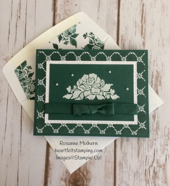 Stampin Up Fresh Florals Notecard Set -Rosanne Mulhern Heartfelt Stamping