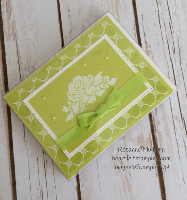 Stampin Up Fresh Florals Notecard Set-Rosanne Mulhern Heartfelt Stamping