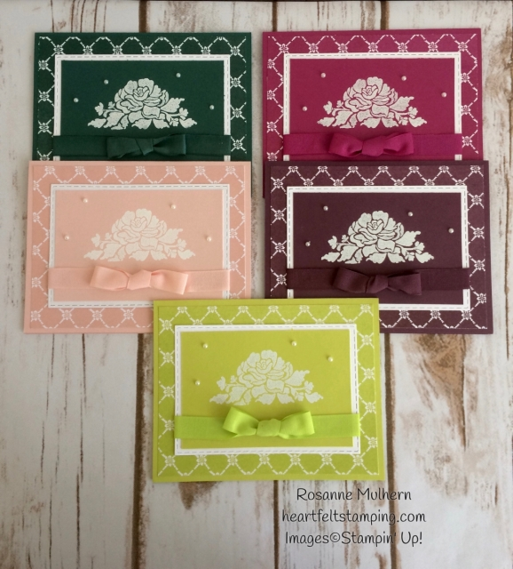 Stampin Up Fresh Florals Notecard Set - Rosanne Mulhern Heartfelt Stamping