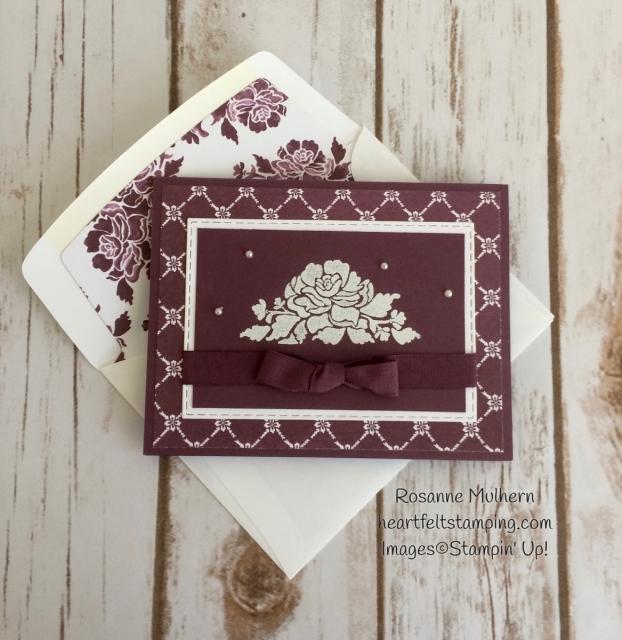 Stampin Up Fresh Florals Notecard Sets - Rosanne Mulhern Heartfelt Stamping