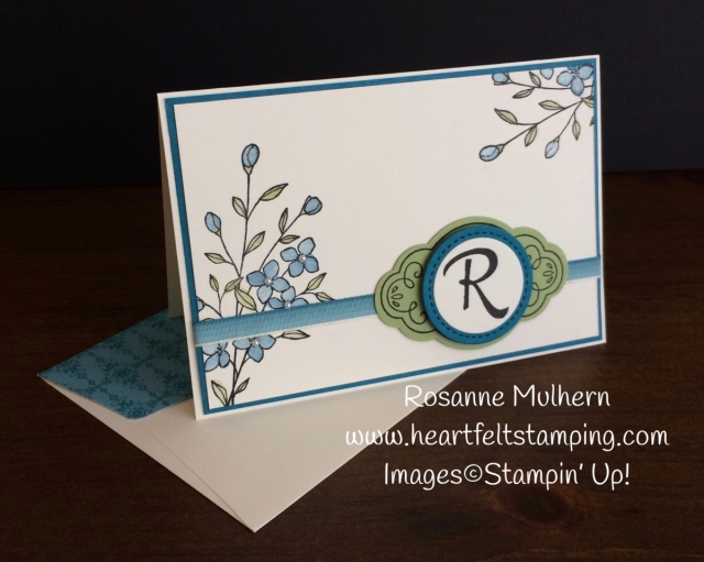 Stampin Up Touches of Texture Mongrammed Note Cards Set - Rosanne Mulhern