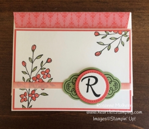 Stampin Up Touches of Texture Mongrammed Note Cards Sets - Rosanne Mulhern