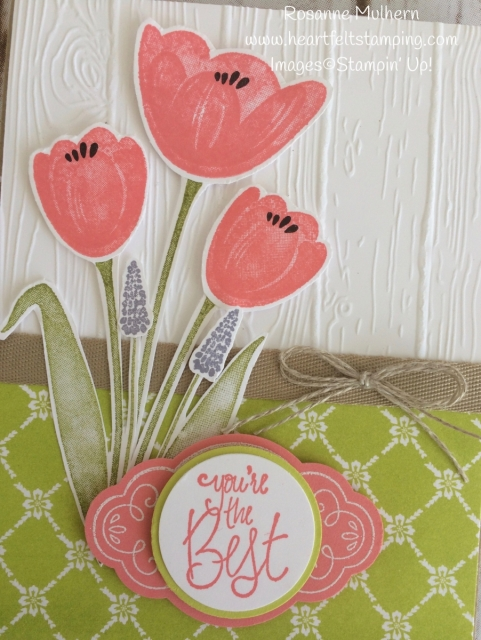 Stampin Up Tranquil Tulips All Occasion Card Idea - Rosanne Mulhern