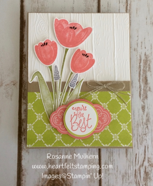 Stampin Up Tranquil Tulips All Occasion Cards Idea - Rosanne Mulhern