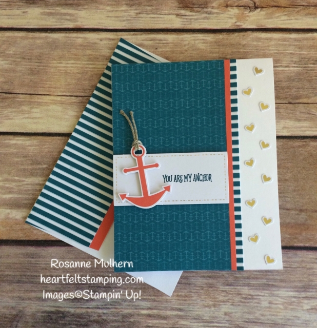 Stampin Up April Paper Pumpkin - You Are My Anchor -Rosanne Mulhern Heartfelt Stamping