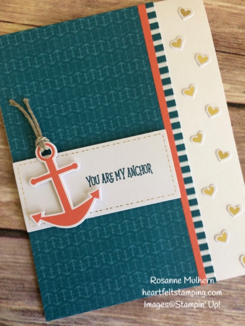 Stampin Up April Paper Pumpkin - You Are My Anchor- Rosanne Mulhern Heartfelt Stamping
