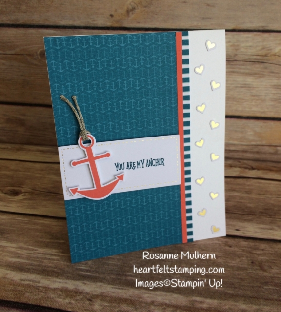Stampin Up April Paper Pumpkin - You Are My Anchor-Rosanne Mulhern Heartfelt Stamping