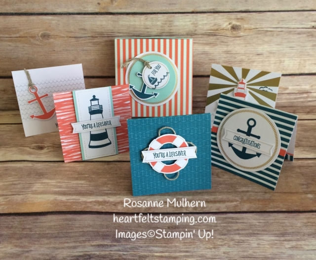 Stampin Up April Paper Pumpkin - You Are My Anchor - Rosanne Mulhern Heartfelt Stamping