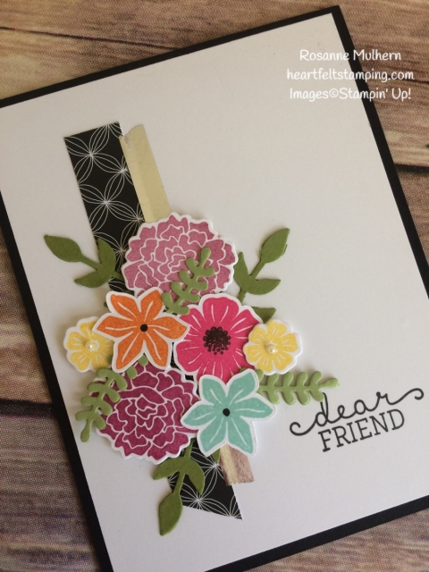 Stampin Up Beautiful Bouquet Friendship Card Idea-Rosanne Mulhern Heartfelt Stamping