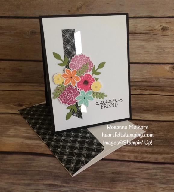 Stampin Up Beautiful Bouquet Friendship Card Idea- Rosanne Mulhern Heartfelt Stamping
