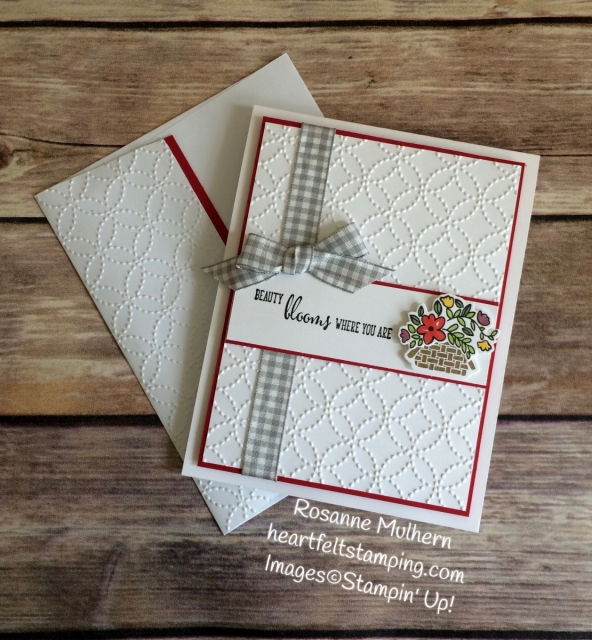 Stampin Up Bike Ride Mother's Day Card Idea - Rosanne Mulhern Heartfelt Stamping