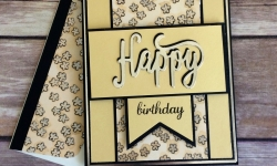 Stampin Up Happy Birthday Thinlit Birthday Card Idea - Rosanne Mulhern Heartfelt Stamping