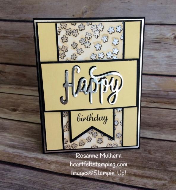 Stampin Up Happy Birthday Thinlit Birthday Cards Idea - Rosanne Mulhern Heartfelt Stamping
