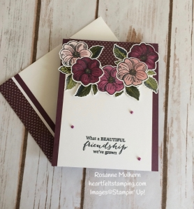 Stampin Up March Paper Pumpkin Alternate Project 2 - Rosanne Mulhern Heartfelt Stamping