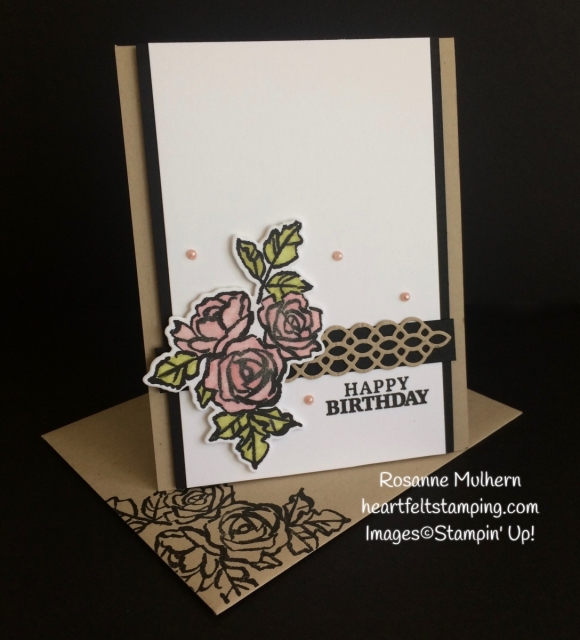 Stampin Up Petal Palette Birthday Card Idea - Rosanne Mulhern Heartfelt Stamping