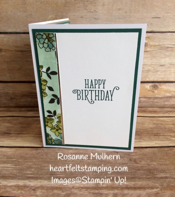 Stampin Up Share What You Love DSP Birthday Card Ideas - Rosanne Mulhern Heartfelt Stamping