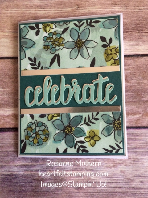 Stampin Up Share What You Love DSP Birthday Card - Rosanne Mulhern Heartfelt Stamping