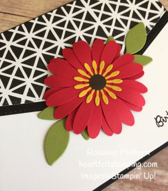 Stampin Up Daisy Punch Birthday Card Idea-Rosanne Mulhern Heartfelt Stamping