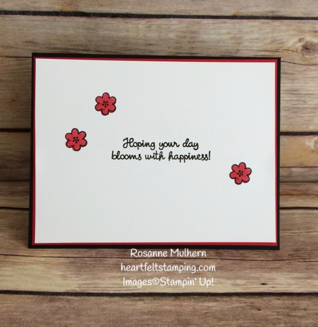 Stampin Up Daisy Punch Birthday Card Idea- Rosanne Mulhern Heartfelt Stamping