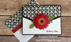 Stampin Up Daisy Punch Birthday Card Idea -Rosanne Mulhern Heartfelt Stamping