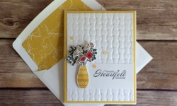 Stampin Up Varied Vases Thinking of You card idea - Rosanne Mulhern Heartfelt Stamping