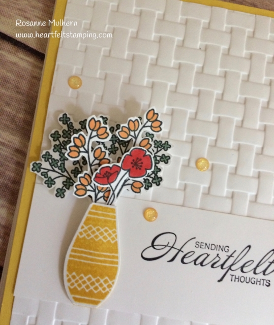 Stampin Up Varied Vases Thinking of You cards idea - Rosanne Mulhern Heartfelt Stamping