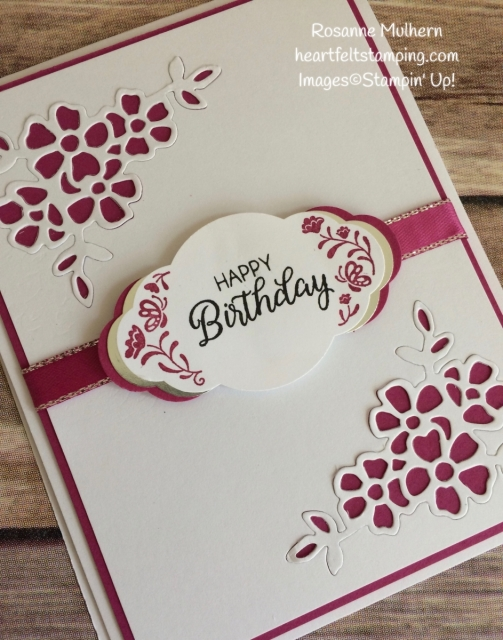 Stampin Up Label Me Pretty Birthday Card Idea-Rosanne Mulhern Heartfelt Stamping