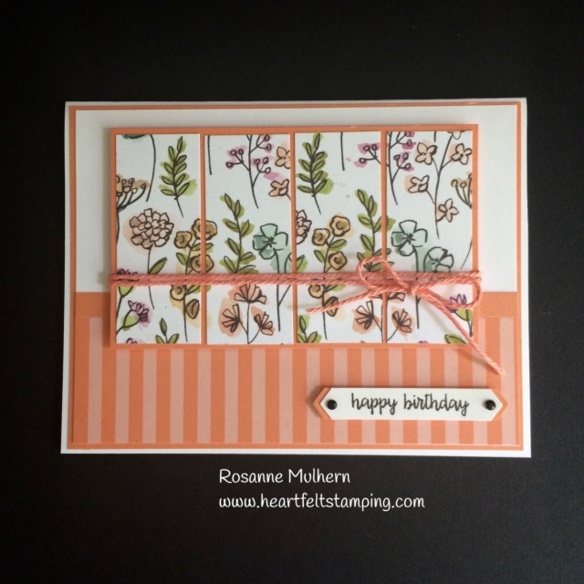 Stampin Up Share What You Love Birthday Card Idea -Rosanne Mulhern Heartfelt Stamping