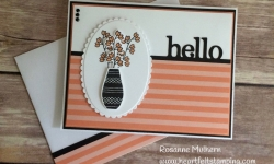 Stampin Up Varied Vases Hello card - Rosanne Mulhern Heartfelt Stamping